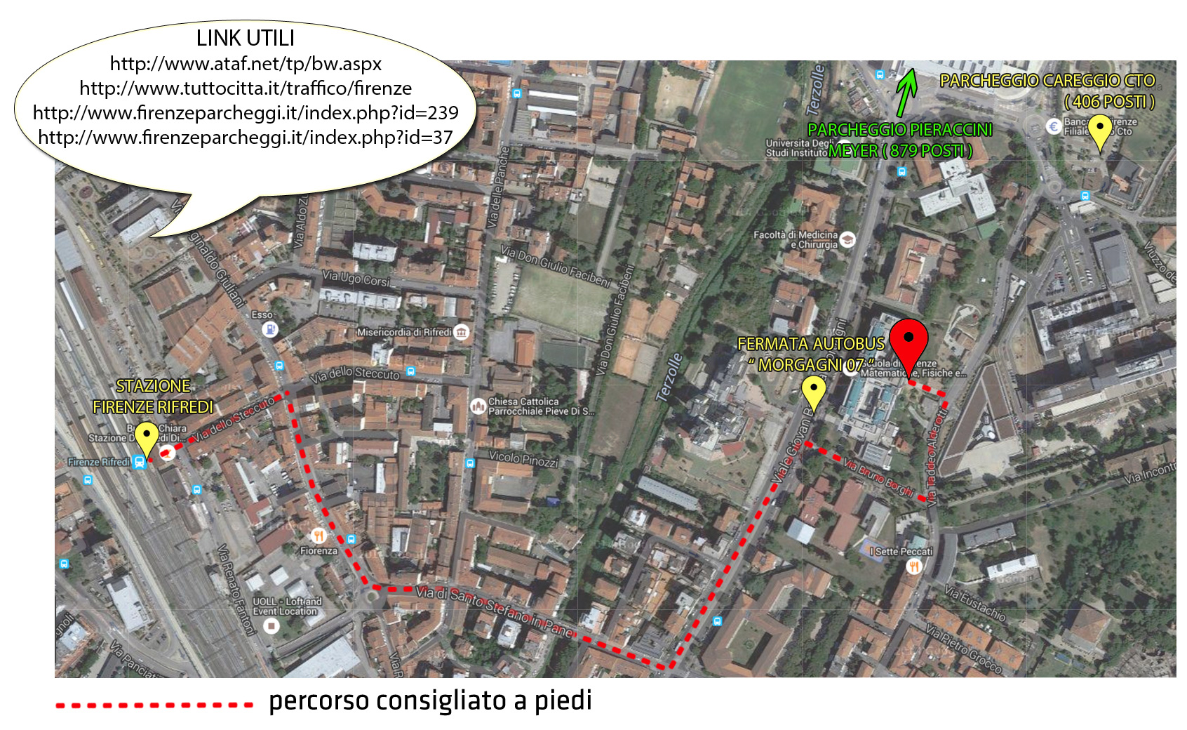 Cartina Ospedale Careggi Firenze.Sedi E Aule Mappa Scuola Sc Saluteumana Scuola Di